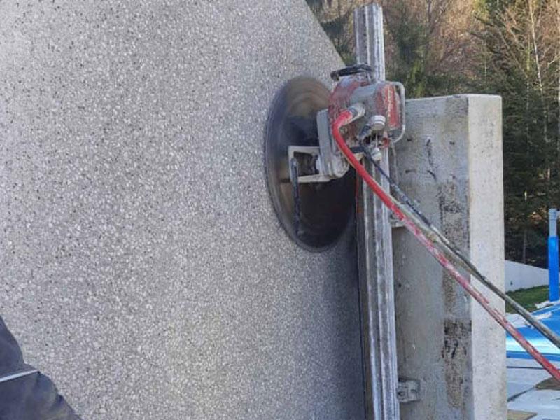 rezanje betona s stensko žago